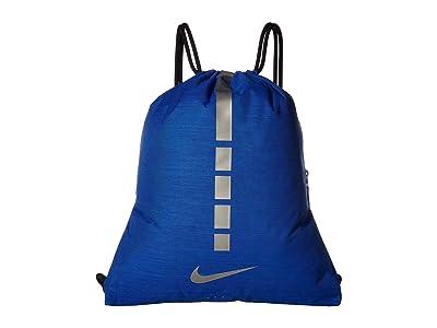 Nike Hoops Elite Gymsack 2.0 (Game Royal/Black/Metallic Cool Grey) Backpack Bags