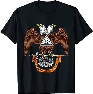 Mens 32nd Degree Mason T Shirt Masonic Tee Scottish Rite Down