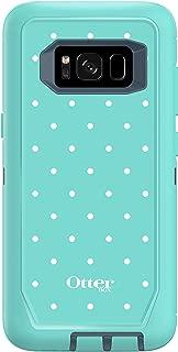 OtterBox DEFENDER SERIES SCREENLESS EDITION for Samsung Galaxy S8 - Retail Packaging - MINT DOT (TEMPEST BLUE/AQUA MINT/MINT DOT)