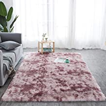 Household Tie-Dyed Carpets Soft and Warm Carpets Comfortable Living Room Floor Mats Non-Slip Gradient Color Suitable for L...