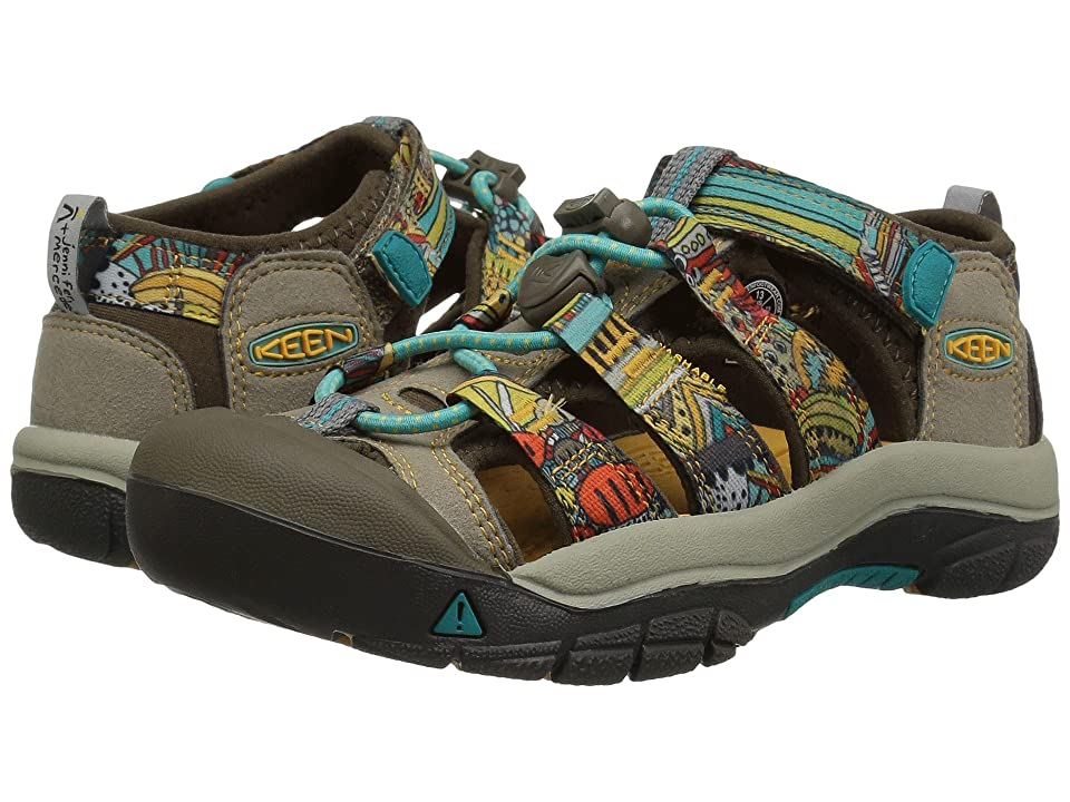 Keen Kids Newport H2 (Toddler/Little Kid) (Beeswax Print) Kids Shoes