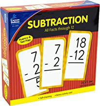 Carson Dellosa - Subtraction Flash Cards All Facts 0 to 12 - 169 Cards with over 150 Problems for 1st, 2nd and 3rd Grade Math, Ages 6+ with Bonus Game
