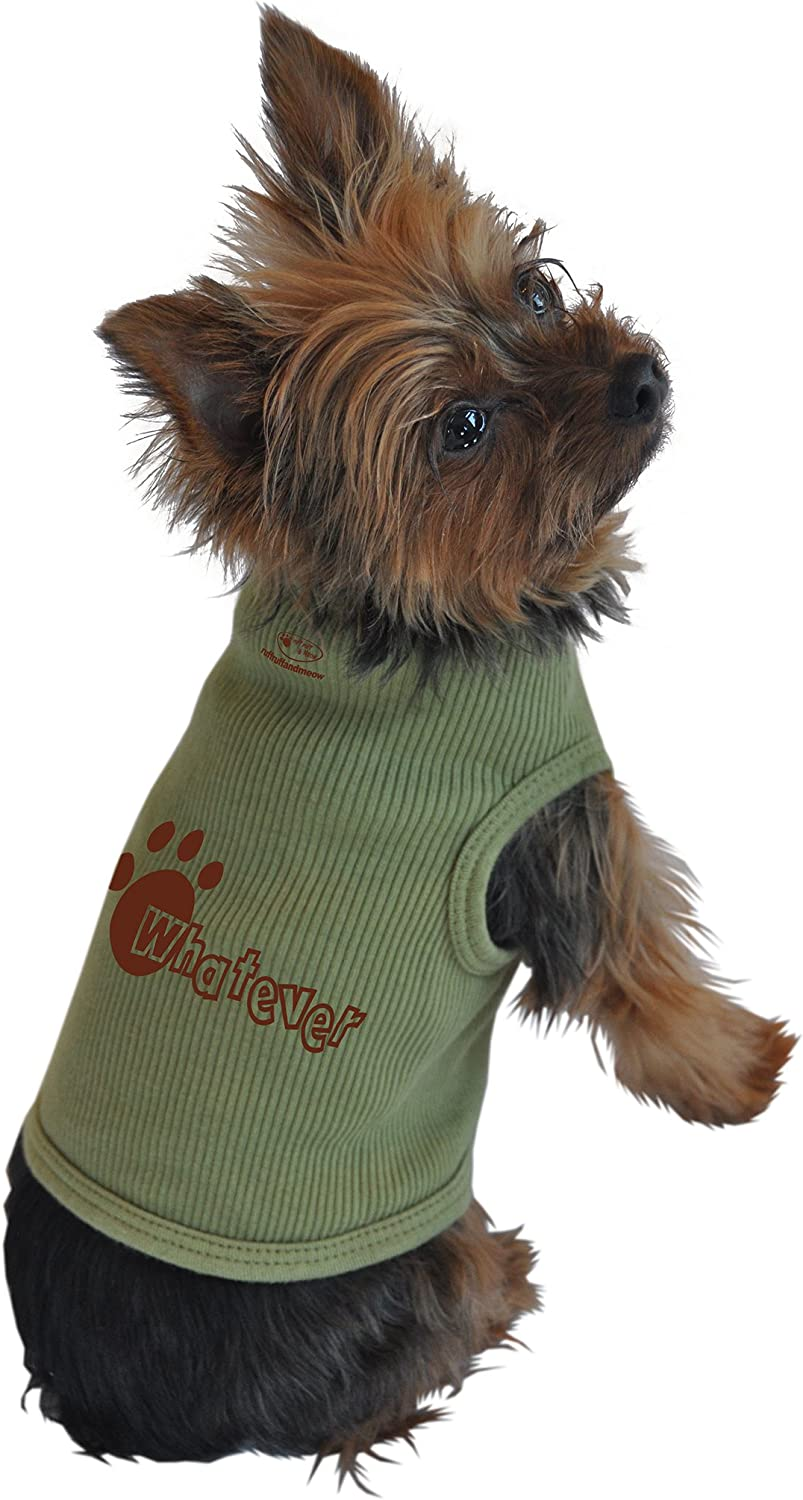Ruff Ruff and Meow ExtraLarge Dog Tank Top, Whatever, Green