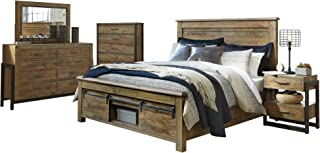 Ashley Sommerford 5PC Bedroom Set E King Panel Bed One Nightstand Dresser Mirror Chest in Brown