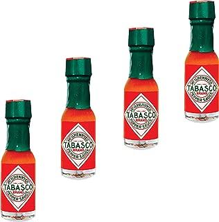 Tabasco Sauce Mini Travel Bottles - Refills for Hot Sauce Travel Keychain. Miniature Gifts Bottle For On The Go. Set of 4.