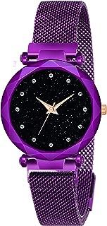 Kiarvi Gallery Purple Dial with Trending Magnetic Blue Metal Strap
