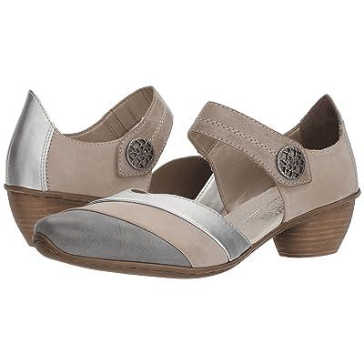 0f06d4e18 Rieker 43790 Mirjam 90 (White/Grey/Steel/Silver/Steel) Women's Shoes