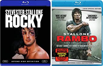 Sylvester Stallone 2-Movie Bundle: Rocky & Rambo: The Fight Continues Blu-ray Set