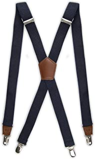 Suspenders for Men-Heavy Duty Clips and X Back Adjustable Straps for Adults