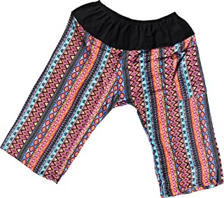 Raan Pah Muang RaanPahMuang Printed Light Summer Rayon Childrens Baggy Elastic Waist Pants