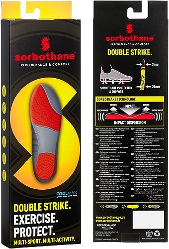 Sorbothane Double Strike Insoles, (10 UK (44-45 EU)