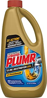 Liquid-Plumr Pro-Strength Clog Remover, Full Clog Destroyer, 32 Fluid Ounces (1 Pack)