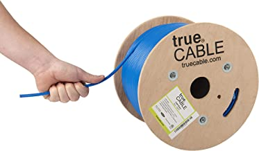Cat6 Riser (CMR), 500ft, Blue, Solid Bare Copper Bulk Ethernet Cable, 550MHz, ETL Listed, 23AWG 4 Pair, Unshielded Twisted Pair (UTP), trueCABLE