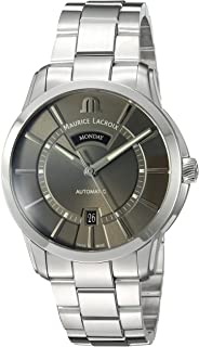 Maurice Lacroix Men's Pontos Swiss-Automatic Watch with Stainless-Steel Strap, Silver (Model: PT6358-SS002-332-1)