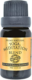 Prime Natural Yoga & Meditation Blend Aromatherapy Essential Oil, Pure Undiluted (10 ml) Diffuser Oil for Mood Boost and N...