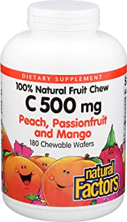 NATURAL FACTORS Passionfruit Peach Mango C 500, 180 CT