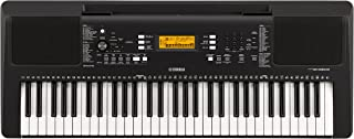 Yamaha PSR-E363 Digital Electronic Keyboard with 61 Keys and Built-in Lesson Function, in Black