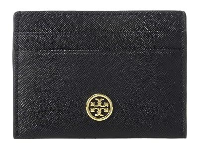 Tory Burch Robinson Card Case (Black 2) Wallet