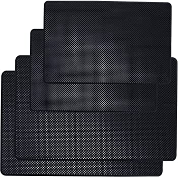 ZOOENIE Car Anti-Slip Mat Non-Slip Adhesive Pad Silicone Double Sided Round Lotus Dashboard Non-Slip Mat Heat Resistant Car Non-Slip Pad for Mobile Phones Glasses 12 x 12 cm
