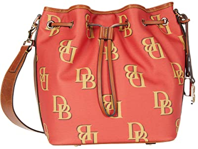 Dooney & Bourke Monogram Drawstring (Red) Handbags