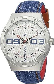 Fastrack Denim Analog White Dial Men's Watch-3183SL01