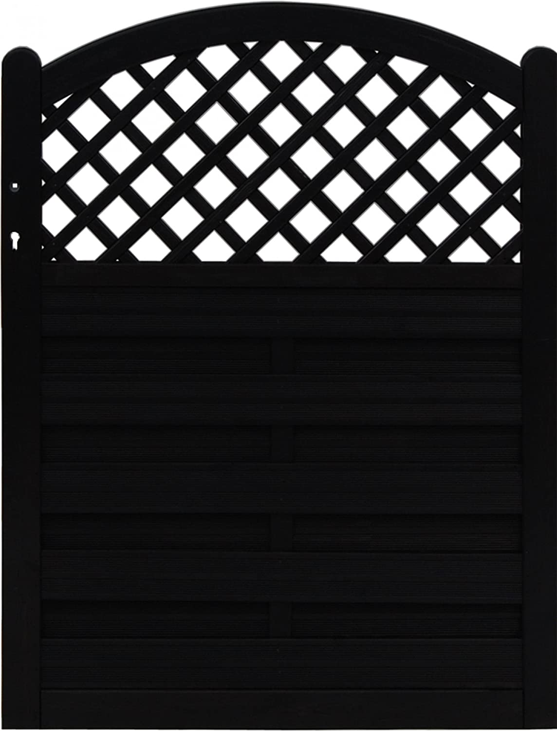 Andrewex wooden wicket, fencing panel, garden fence 120 x 100, varnished, anthracite