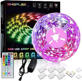 SHOPLED LED Strip Lights 16.4ft Color Changing Lights with Remote for Room, Bedroom, Kitchen