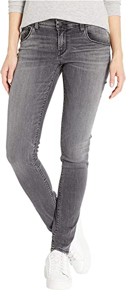 Collin Mid-Rise Skinny Jeans in Black Coral
