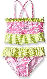 ملابس سباحة للبنات الصغيرات من Flap Happy UPF 50+ Hana Crossback من قطعتين