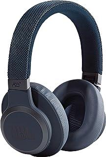 JBL Live 650 BTNC Wireless Over-Ear Noise-Cancelling Headphones with Alexa (Blue)