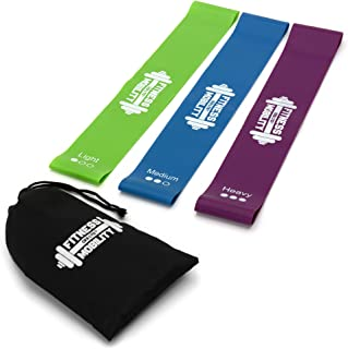 CKB LTD® Set de 3 Resistance Bands Set Loop Bands Bande de Resistance Équipement d'Exercices pour Musculation Bandes Élastiques pour Fitness Latex, Pilates Yoga Physiothérapie Flexibilité Réeducation