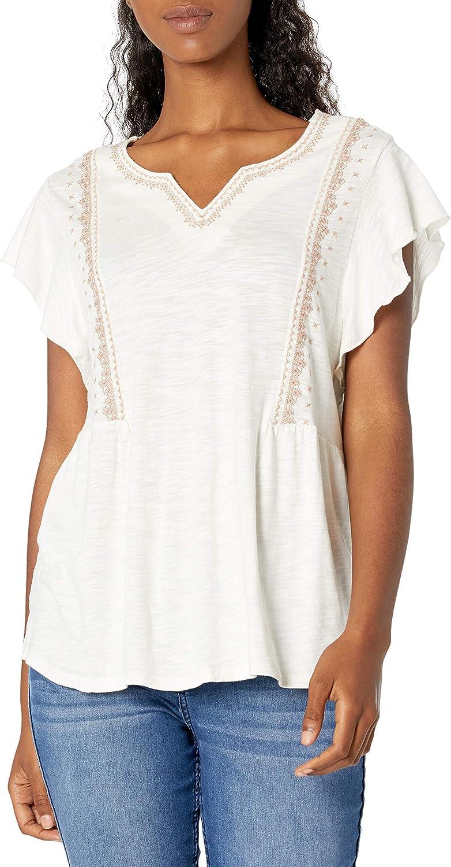 Vintage America Blues Women's Ruffle Top Bargain online shopping sale Sleeve Gemma