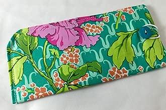Fabric Eyeglass Case - Sunglass Case - Reading Glasses Case - Amy Butler Violette Field Poppy in Rose