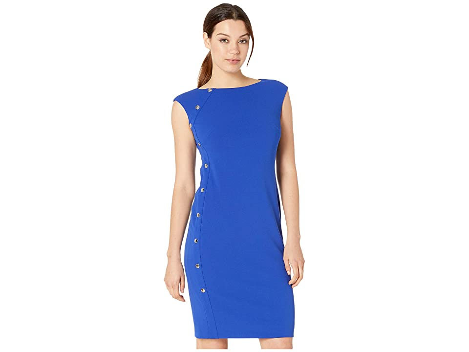 LAUREN Ralph Lauren Clark w/ Trim Dress (Rugby Royal) Women