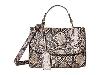 SOLE / SOCIETY Destin Crossbody Messenger (Natural Snake) Clutch Handbags