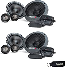 $94 » MB Quart - Two Pairs of Formula 6.5 Inch 2-Way Component Car Speakers - FSB216