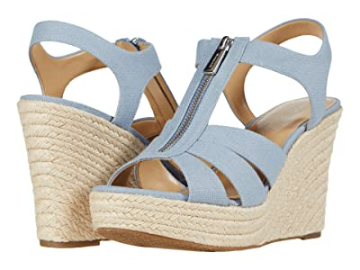 MICHAEL Michael Kors Berkley Wedge (Pale Blue) Women