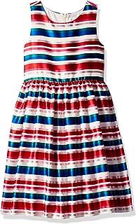 فستان جيمبوري منسوج للفتيات بدون أكمام كبير