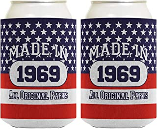50th Birthday Gift Coolie Made 1969 Can Coolies 2 Pack Can Coolie Drink Coolers Coolies Patriotic