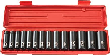 TEKTON 1/2-Inch Drive Deep Impact Socket Set, Metric, Cr-V, 6-Point, 11 mm - 32 mm, 14-Sockets | 4885