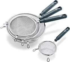 GreenLife Kitchen Gadgets Gray Collapsible Food Strainers with Handles, Set of 4