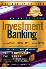 Investment Banking: Valuation, LBOs, M&A, and IPOs (Wiley Finance) Paperback