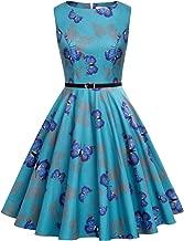 blue dress with butterflies