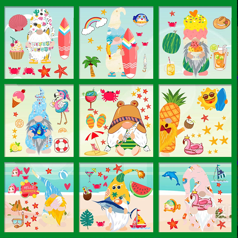 Max 53% OFF 9 Sheets NEW before selling ☆ Hawaiian Luau Window 105pcs Cling Tropical Decorations