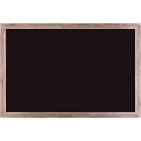 Amazon Com U Brands Magnetic Chalkboard 36 X 24 Inches Rustic Wood Frame 4549u00 01 Office Products