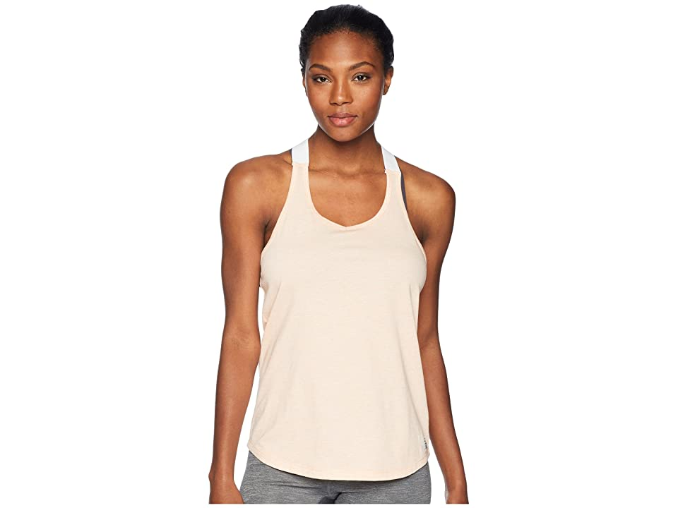 New Balance Heather Tech Tank Top (Fiji Heather/White) Women