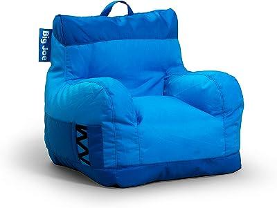 Big Joe Dorm Bean Bag Chair, Two Tone Blue