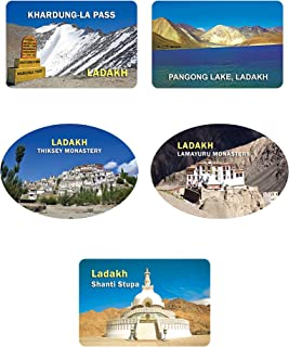 Crystal Fridge Magnets-Leh-Ladakh Set of 5 (Sr. 2)
