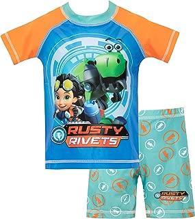 Rusty Rivets Boys Swim Set Blue