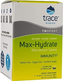 Max Hydrate Immunity Performance Tablets Lemon Lime Flavor 4 Tubes